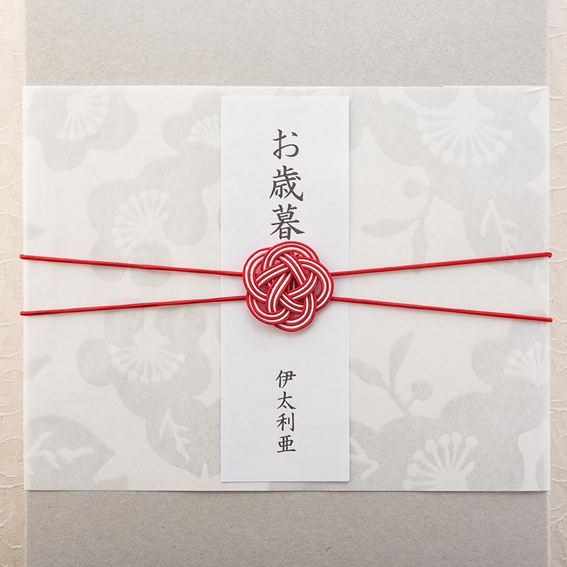 梅柄の掛紙