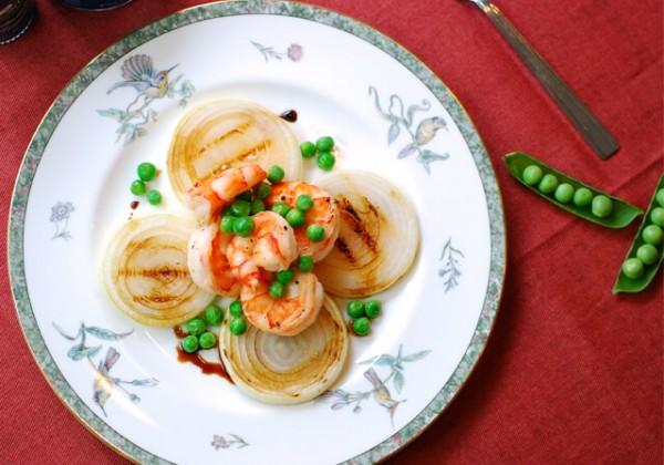 海老とグリーンピースの炒め物