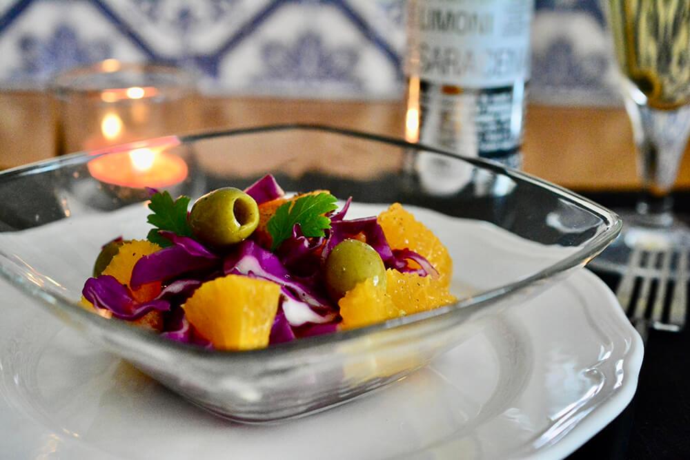 オレンジと紫キャベツのシチリアサラダ