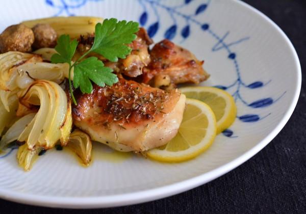 チキンと野菜のレモン風味グリル