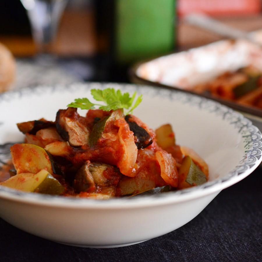 オーブンで作る茄子のカポナータ