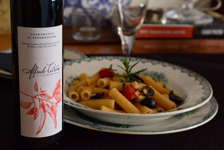 鯛とミニトマトのマッケローニ